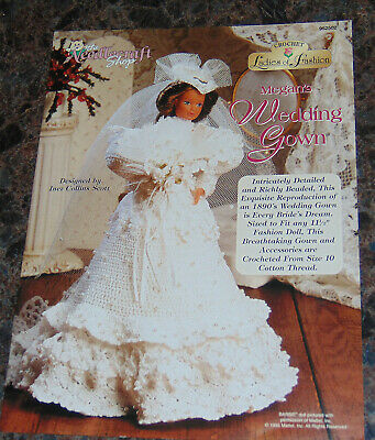 Needlecraft Shop Ladies Of Fashion Crochet Megan's Wedding Dress Pattern 952502 • 3.86£