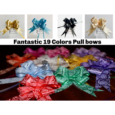 Large 30mm Pull Bows Gift Wrapping Weddings Hampers Floristry Bow Ribbon Pew MAX • 2.49£