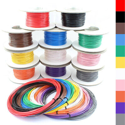 AU10.27 • Buy Single Core Stranded Wire Cable 12v 24v Thin Wall Wire All AMP Ratings 11 Colour