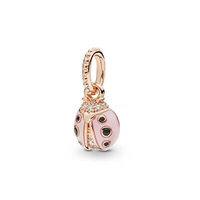 Lucky Pink Ladybird European Charm With Pink Gift Pouch - Rose Gold Tone - 2019 • 5.76£