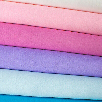 Merino Wool Blend Felt Fabric - Premium Quality Woolfelt Mini Rolls Wool Felt • 4.79£
