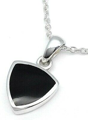 Genuine Whitby Jet And Sterling Silver Pendant 00022p Hand Made In Whitby • 34£