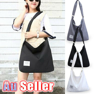 AU16.89 • Buy Womens Hobo Ladies Tote Large Canvas Handbag Purse Shoulder Bag Travel Messenger