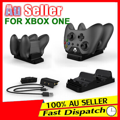 AU19.53 • Buy 2 USB Rechargeable Microsoft Battery For + XBOX ONE Dual Controller Dock Charger