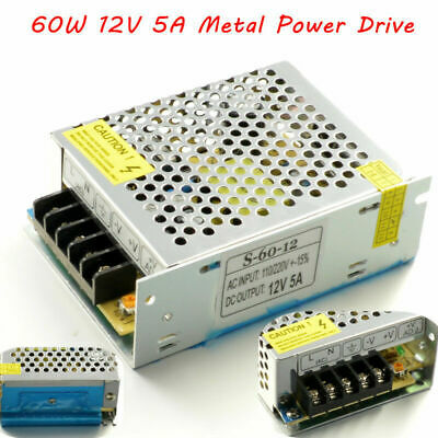 DC12V 5A 60W Power Supply Metal Power Driver For LED Strip Light 5050 3528 5630 • 7.78$