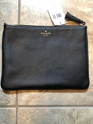 $ CDN49.99 • Buy Kate Spade Chester Street Gia Pebbled Black Leather Pouch