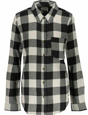 VANS- VM Moody Blues Phantom Women's Black Grey & White Check Shirt-XS,S,M,XL • 15.99£