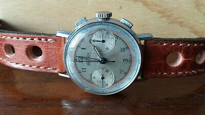 $ CDN2950 • Buy Vintage Angelus Chronograph Aviator Watch Caliber 215  From 1940's Estate Find