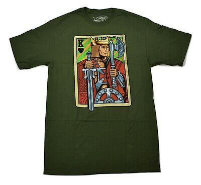$9.99 • Buy Masters Of The Universe Mens He-Man Playing Card Shirt New LT