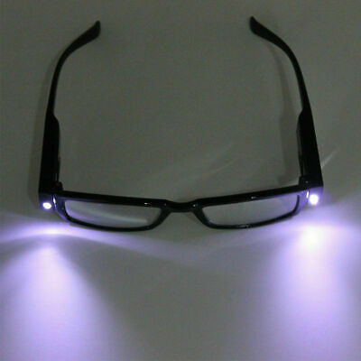 LED Light UP Reading Glasses Spectacle Diopter Magnifier Strength +1.00 - +4.00 • 1.84£