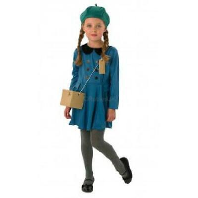Evacuee Girl - Kids Costume WW1 Or WW2 Fancy Dress • 11.97£