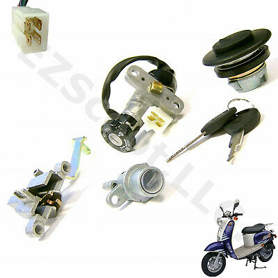 AU37.36 • Buy Ignition Key Lock Set & Cap Qt-11 Yy50-15 Gy6 Chinese Scooter Moped Vip Tng Znen