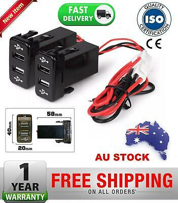AU29.94 • Buy 2x Dual USB Charger OEM Switch Design Toyota 4runner Thundra Kluger