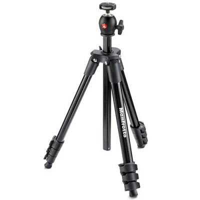 AU86.85 • Buy Manfrotto Compact Light 4-Section Tripod - Black