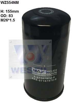 AU24.50 • Buy Nippon Max Oil Filter WZ554NM (industry Number Z554 Or Z600)