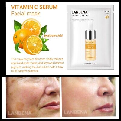 £2.99 • Buy Vitamin C Face Mask With Hyaluronic Acid And Collagen Best Anti Ageing Serum