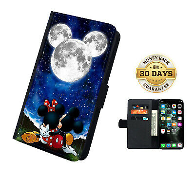 AU16.99 • Buy Disney Mickey Mouse Sky Faux Leather Flip Phone Case Cover Wallet