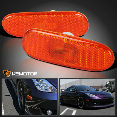 $16.38 • Buy For 2000-2005 Toyota Celica Amber Side Marker Lights Signal Lamps Left+Right