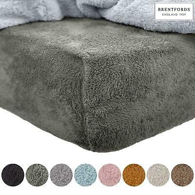 Brentfords Teddy Fleece Fitted Sheet Thermal Warm Single Double King Bedding NEW • 9.99£