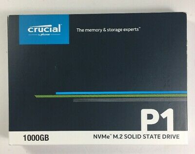 View Details NEW Crucial P1 M.2-2280 1TB PCI Express 3.0 X4 NVMe Solid State Drive Internal • 109.00£