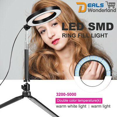 AU33.59 • Buy Dimmable LED Ring Selfie Light Makeup Studio Photography Lighting + Tripod
