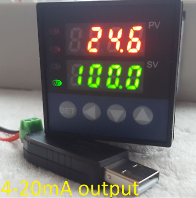 £56.49 • Buy PID Temperature Controller Recorder 4-20mA Analog Output °C °F + USB RS485 To PC