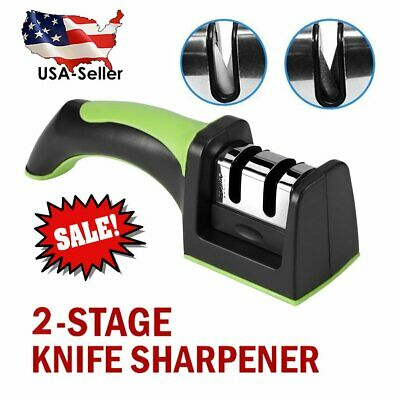 $4.99 • Buy Professional Ceramic Tungsten KNIFE SHARPENER Kitchen Sharpening System Tool USA