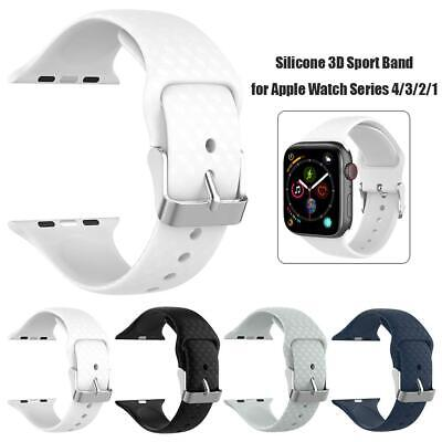 $ CDN8.82 • Buy For Apple Watch Series 1/2/3/4 Silicone Sport Watch Band Bracelet Strap 38/42mm