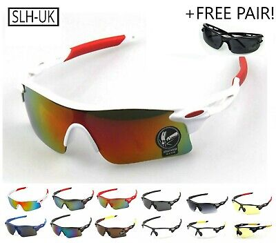 +FREE PAIR+ Cycling Running Sports Sunglasses Bike Glasses Mens Womens Fishing • 7.99£