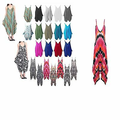 New Womens Ladies Baggy Cami Strappy Lagenlook Harem Playsuit Jumpsuit Dress Top • 9.99£