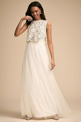 b26265946f751 Anthropologie BHLDN Jenny Yoon Louise Tulle Wedding Bridal Skirt Ivory  Small 4 • 129.00$