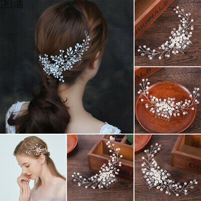 $2.79 • Buy Bride Bridal Hair Comb DIY Wedding Headwear Pearl Women Jewelry Hair Accessories