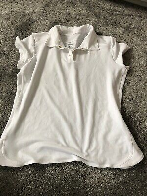 Wilson Tennis Top  Size XL White With Collar • 4.50£