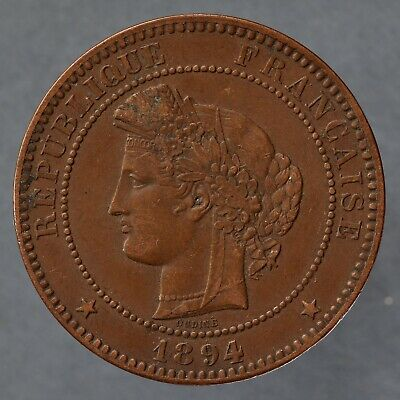 £25 • Buy France. 10 Centimes, 1894 A. Lower Mintage.