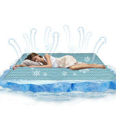 Magic Cooling Gel Cool Pad Mat Mattres Topper Pillow Bed Cold Uber Large Chilled • 6.59£