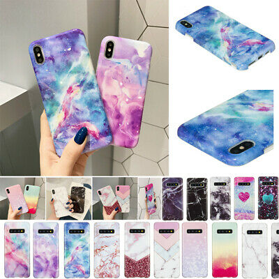 AU8.98 • Buy For IPhone 6S 8 7 Plus XR XS Max X Patterned Marble Soft TPU Silicone Case Cover