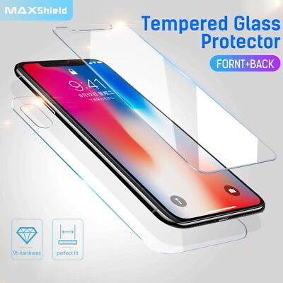 AU6.29 • Buy MAXSHIELD IPhone X 8/7 7/8 Plus Front+Back Tempered Glass Screen Protector Cover
