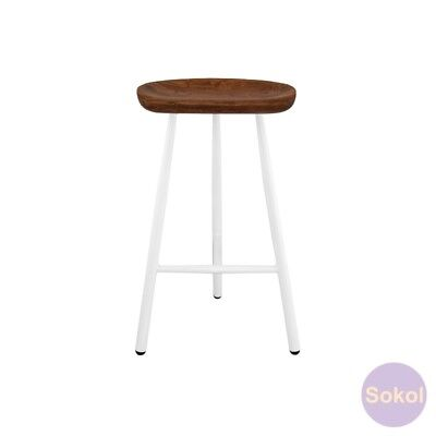 AU99.99 • Buy SOKOL - Engineered Designer 'Tractor' White Bar Stools 75cm High.