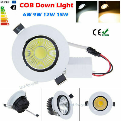 AU11.77 • Buy 1/10x Dimmable 6W 9W 12W 15W COB LED Recessed Ceiling Downlight Light Lamp EFO