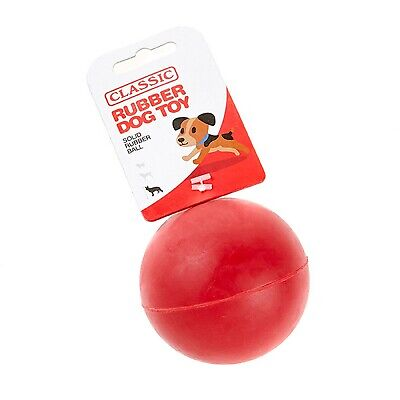 £7.52 • Buy Red Large Solid Strong Tough Hard Rubber Dog Treat Ball Fetch Toys