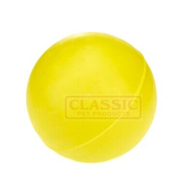 £7.52 • Buy Yellow Large Solid Strong Tough Hard Rubber Dog Treat Ball Fetch Toys