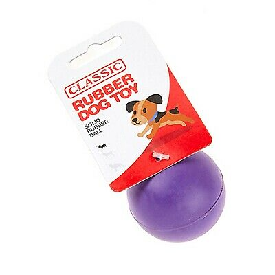 £5.53 • Buy Purple Small Solid Strong Tough Hard Rubber Dog Treat Ball Fetch Toys