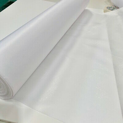 £2.50 • Buy White Iron On Light Weight Fusible Interfacing 75cm Wide Free Post & 7 Lengths