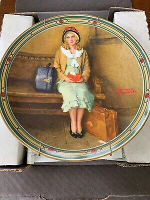 $ CDN22.50 • Buy Edwin Knowles China Norman Rockwell Young Girls Dream Plate