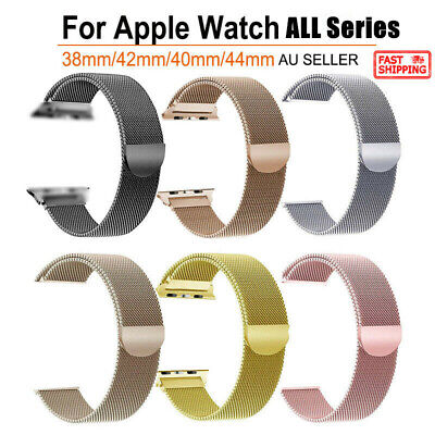 AU7.89 • Buy Magnetic Loop Milanese Wrist Watch Band Strap For Apple Watch IWatch SE/6/5/4/3