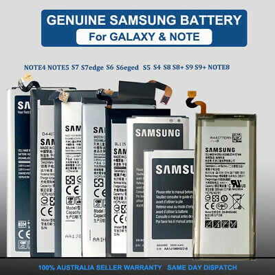 AU12.95 • Buy Genuine Replacement Battery 4 Samsung Galaxy S5 S6 S7 Edge S8 S9+ Note 4 5 8 9