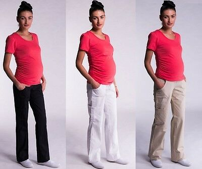 £15.99 • Buy Maternity Cargo Trousers Pregnancy Combat Pants Over Bump Size 8 10 12 14 16 18