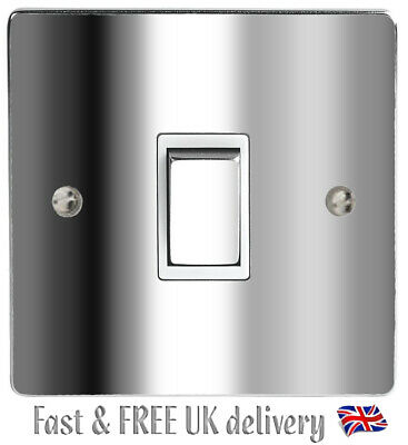 Silver Chrome Light Switch & Power Socket Stickers Skin Decal Vinyl Cover  • 1.95£