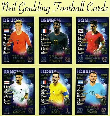 £0.99 • Buy MATCH ATTAX 101 2018-2019 ☆ WORLD STAR ☆ Football Cards #92 To #182