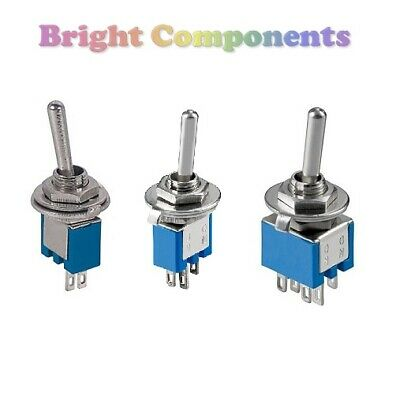 Miniature Toggle Switch (SPST, SPDT, DPDT) Flick Switch - 1st CLASS POST • 1.44£